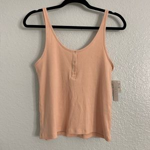 Abound XL Pink Buttoned Tank Top NWT